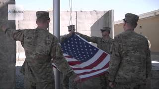 Veterans Flag Raising at Regional Command South Headquarters in Kandahar Airfield, Afghanistan
