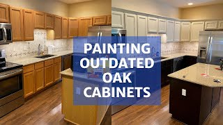 Painting Oak Cabinets Transform Your Kitchen Youtube