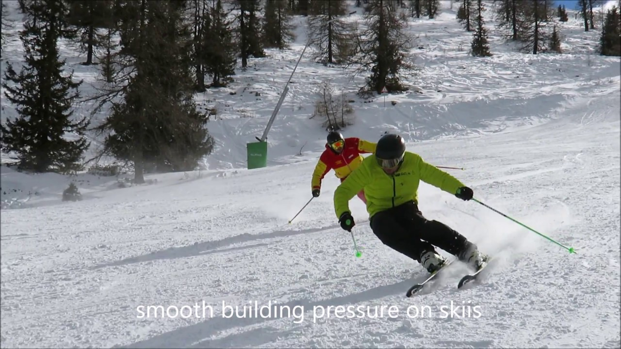 Carving ski technique youtube