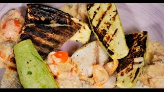 Филе судака с запечёнными кабачками | Рыба и гриль