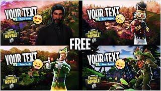 FREE Fortnite Thumbnail Template [2018] | SunnyArts