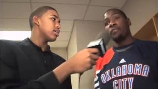 Young highschool player karl anthony towns interviews his idol kevin durant