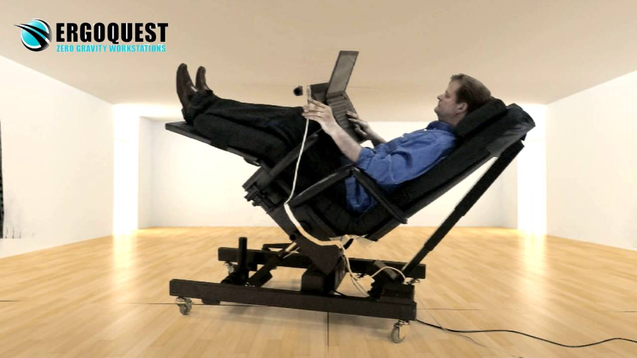 zero gravity chair with laptop tray