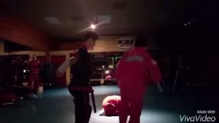 World Martial Arts Center Junior Red Belt Board Breaking Test For Halburt