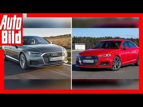 Audi A6 gegen Audi A4 Facelift (2018/2019) Vorschau/Details - YouTube