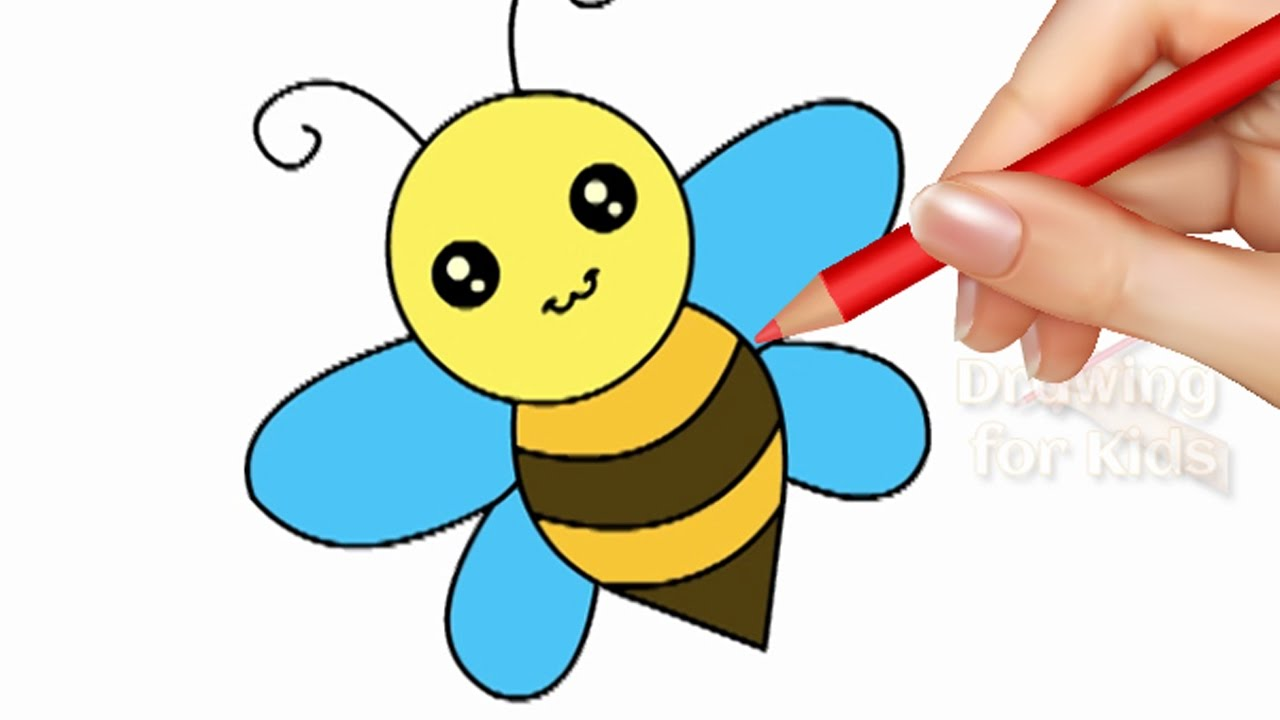 how to draw a bee drawing coloring pages for kids color for