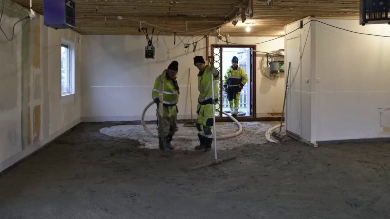 Isolerande golv på betongplatta - EPSCement