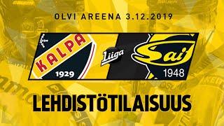 Lehdistötilaisuus, KalPa - SaiPa, 3.12.2019