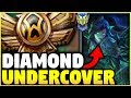 PRETENDING TO BE A BRONZE VAYNE MAIN WHILE BEING COACHED! ** THE COACH GOT MAD!