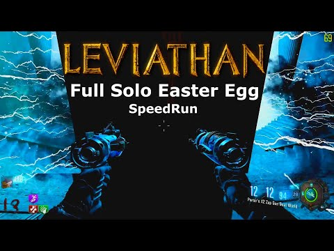 Leviathan Full Solo Easter Egg Speed Run Black Ops 3