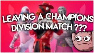 Leaving A Champions Division Match ?   Stream Highlights