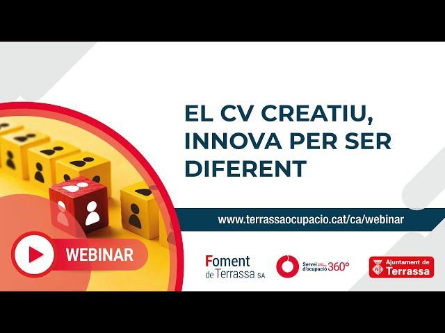 El Currículum creatiu, innova per ser diferent
