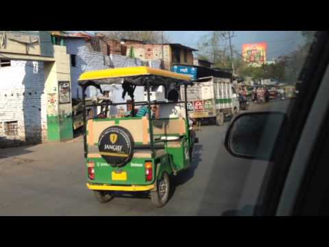 A cab ride in Kanpur India