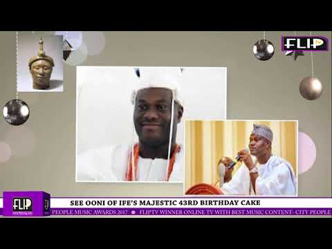 SEE OONI OF IFE'S MAJESTIC 43RD BIRTHDAY CAKE