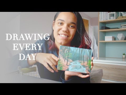 I Tried Drawing Everyday For A Month! · What I Learned ·  FEBRUARY VLOG