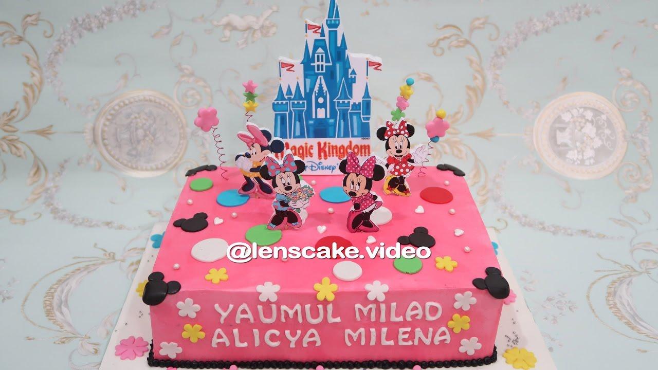 How To Make Birthday Cake Minnie Mouse Cara Membuat Kue