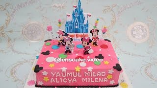 How to Make Birthday Cake Minnie Mouse - Cara Membuat Kue Ulang Tahun Minnie Mouse