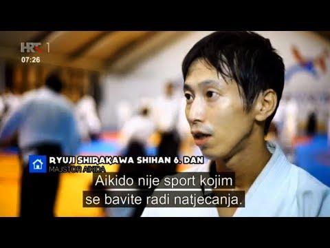 Television news report on Croatia Aikido seminar - Shirakawa Ryuji sensei