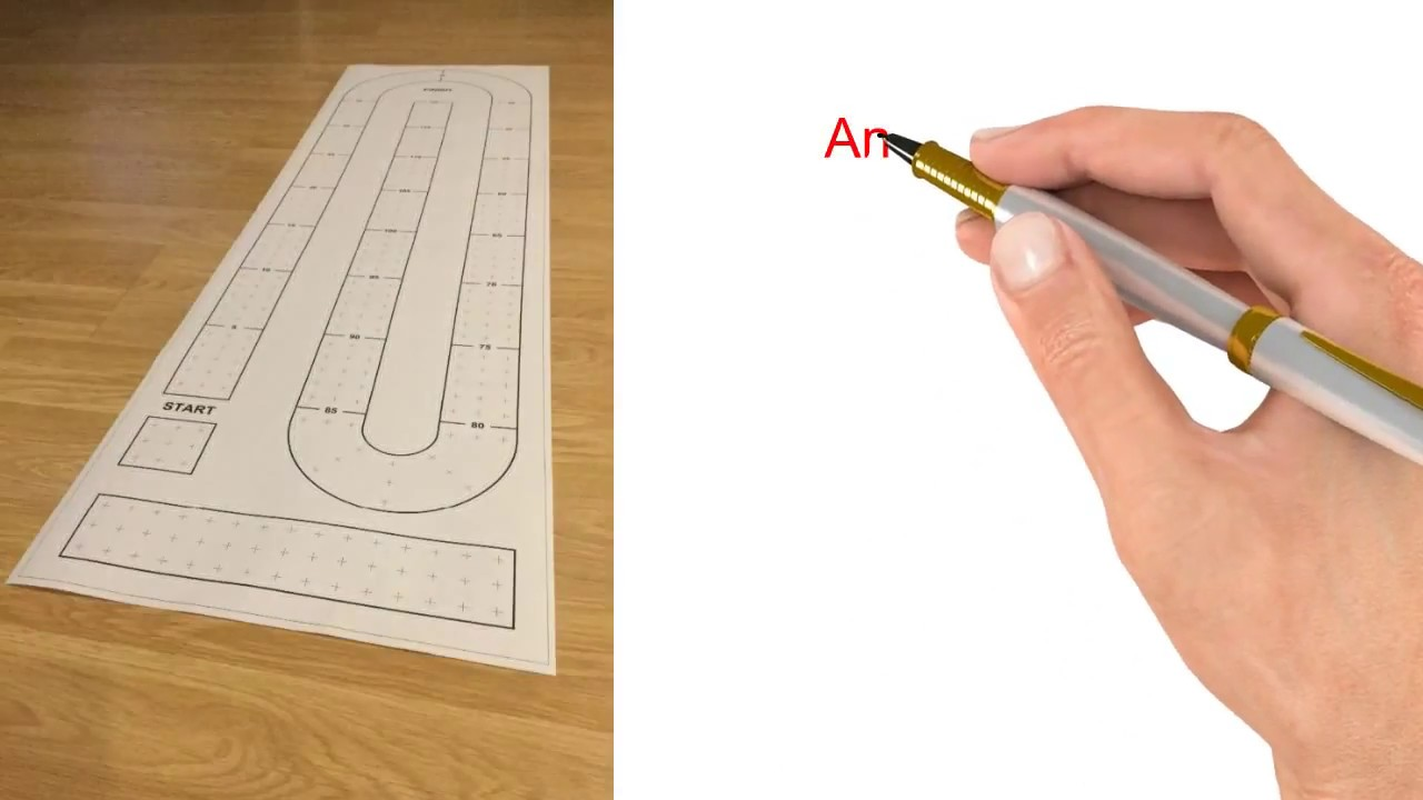 Large Cribbage Board Or Table Templates