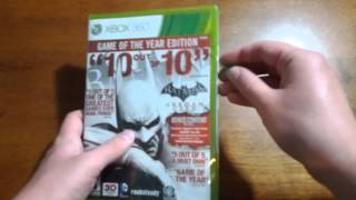 Batman: Arkham City Game of The Year Edition Unboxing! (Xbox 360)