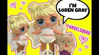 Loren Gray LOL Surprise Custom Doll as Angel with Pierced Ears NEW DIY GG Custom LOL Video