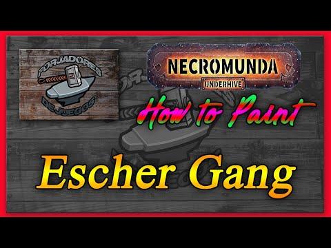"Forjadores de Juegos: How to paint Escher Gang Necromunda ""Games Workshop"""