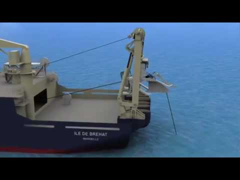 Installing Submarine Cable System on shoreline