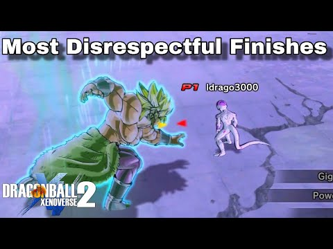 All 'Broly' Finishes! Most Disrespectful Finishes In Dragon Ball Xenoverse 2!