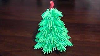 3d Origami Christmas Tree Tutorial