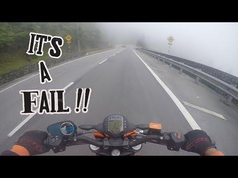KTM DUKE 250 NAIK PUNCAK GENTING FAIL
