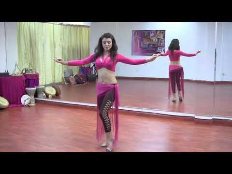 StepFlix Belly dance, Level 1, basic step 11: hip lifts & crescents