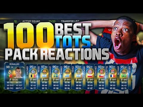 TOP 100 BEST TOTS PACK OPENING REACTIONS EVER - BEST FIFA 15 PACK OPENING REACTIONS ON THE INTERNET