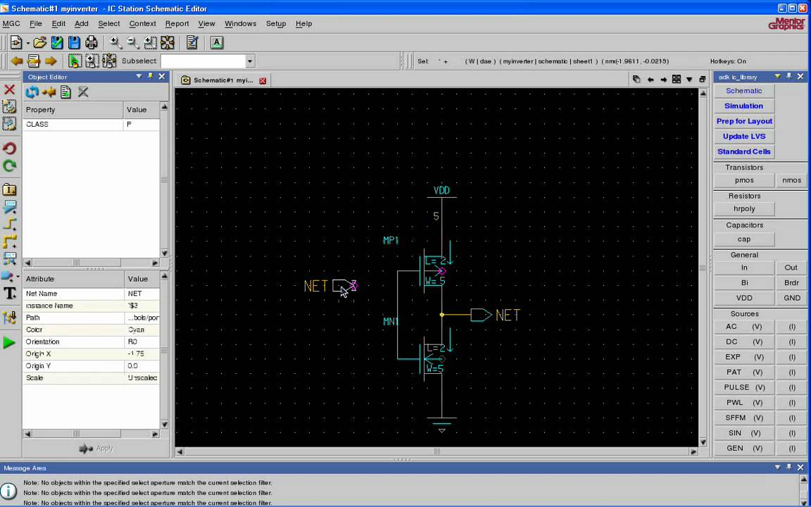 Vlsi Tutorial 1 Creating A Schematic In Mentor Graphics Design Architect Using Adk Daic Youtube