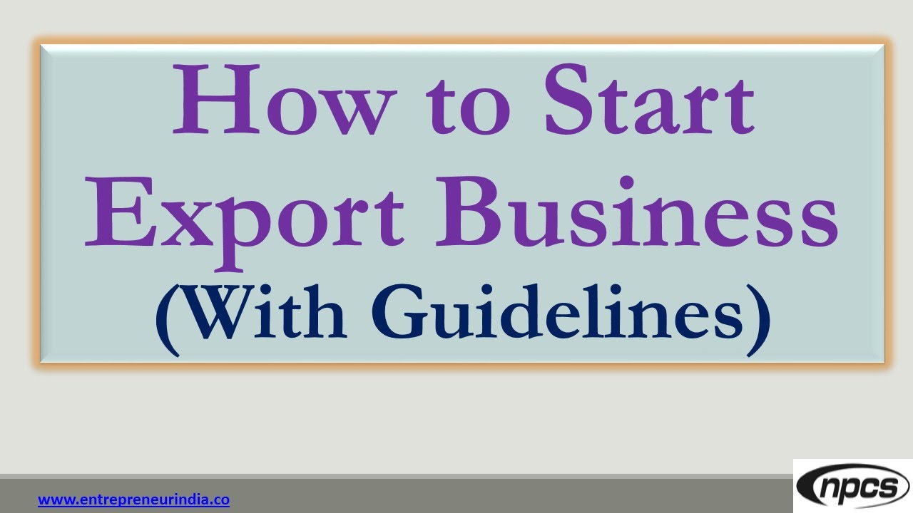 How to Start an Export Business forecast