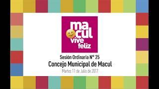 Concejo Municipal de Macul N° 25 / 11-07-2017