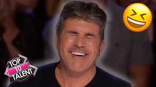 TOP 10 FUNNIEST Comedians That Made Simon Cowell Laugh On Got Talent!