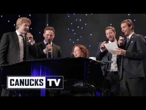 """Canucks rookies sing """"I Will Remember You"""" with Sarah McLachlan"""