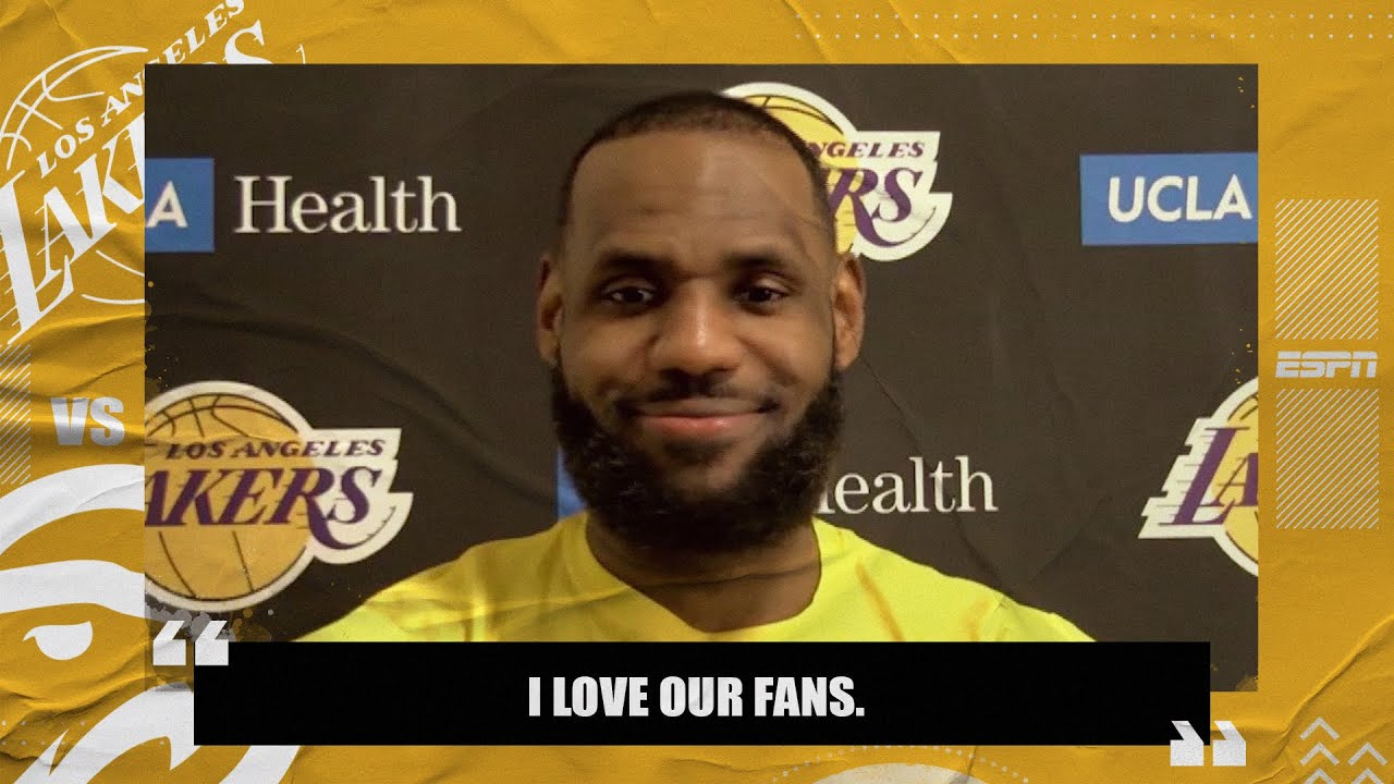 LeBron James on his heated 'interaction' with fans during Lakers vs. Hawks | NBA on ESPN
