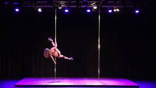 2018 US Pole Dance Championship Novice Level 2 Sexy Division - Cindy Lai