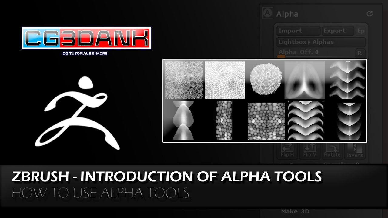 QUICK TIP ZBRUSH TUTORIAL- INTRODUCTION OF ALPHA TOOLS ( DETAIL)_HOW TO USE  ALPHA IN ZBRUSH