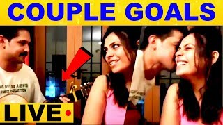 Nakkhul's Live Singing Performance with his wife Sruti Nakul..! – Couple Couple Goals