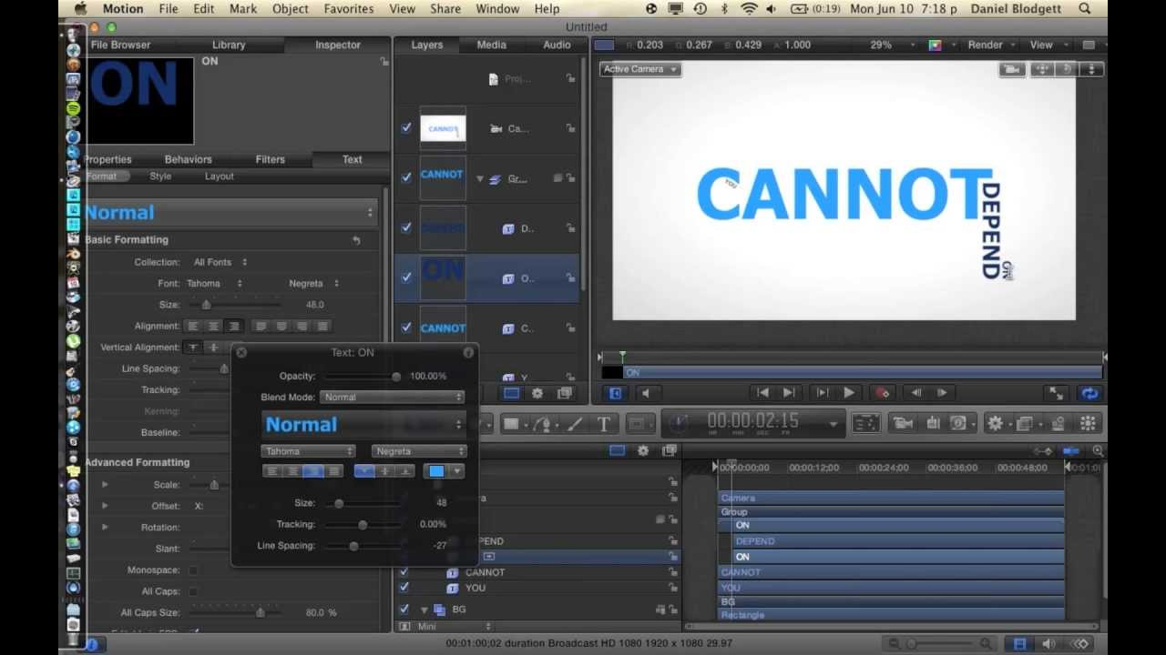 kinetic typography in apple motion 5 the tutorial brothers youtube