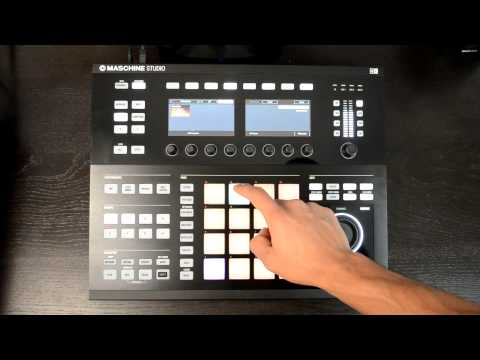 Native Instruments Maschine Studio Music Production MIDI Controller Review Video