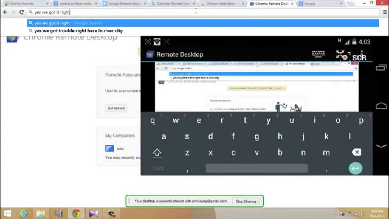 How to access your computer (PC) using chrome remote desktop app from your  Android device