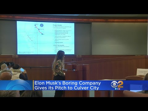 Elon Musk's Boring Company Pitches Culver City On Tunnel Plan