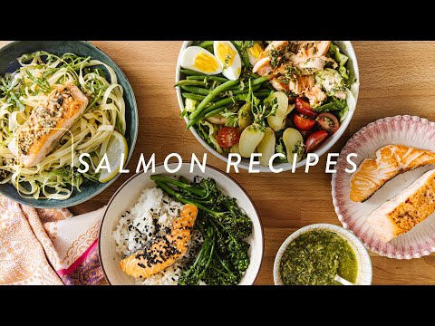 3 Easy SALMON Recipes - Healthy Salmon Dinner Ideas In Minutes