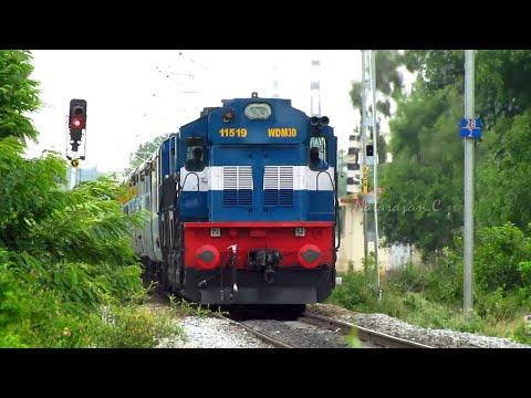 Rocking Brand New KJM WDM3D twins in Action : Indian Railways