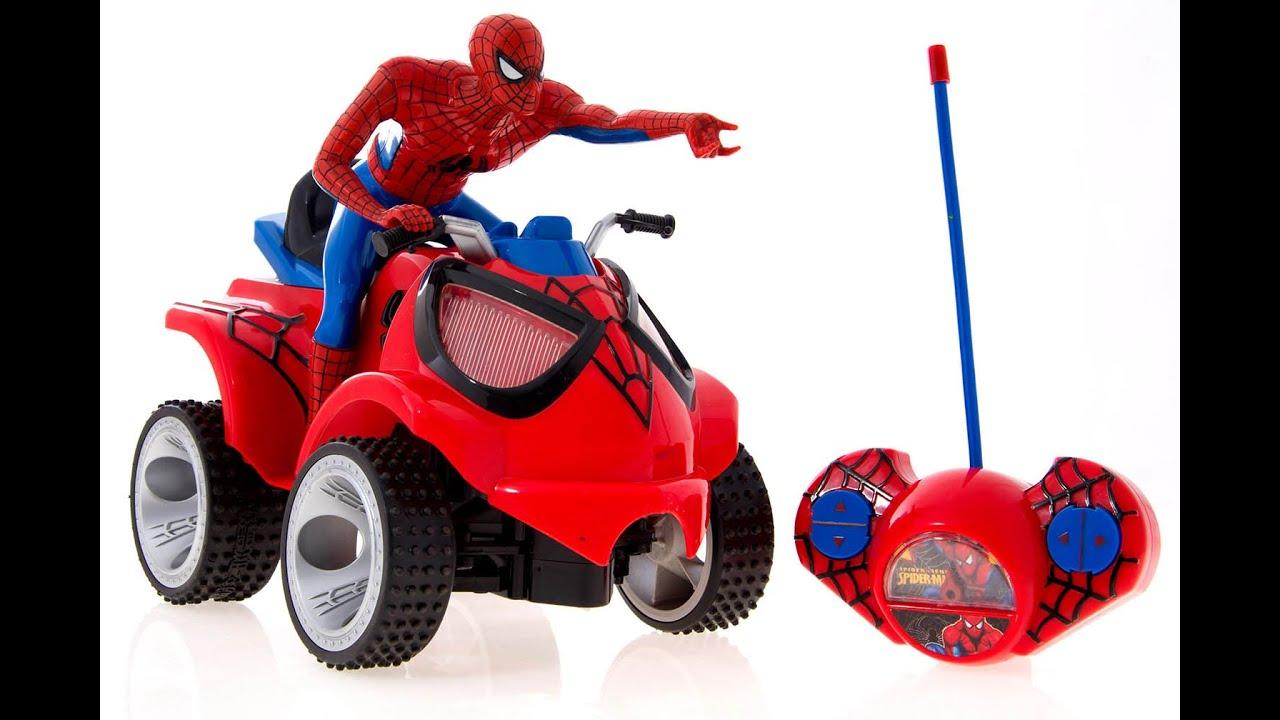 Spiderman quad bike toy youtube - Quad spiderman ...