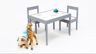Gray Baby Relax Hunter 3 Piece Kiddy Table and Chair Set