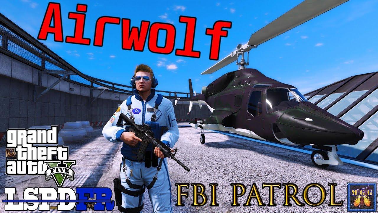 Download FBI Patrol in the Airwolf Supercopter   GTA 5 LSPDFR Episode 374